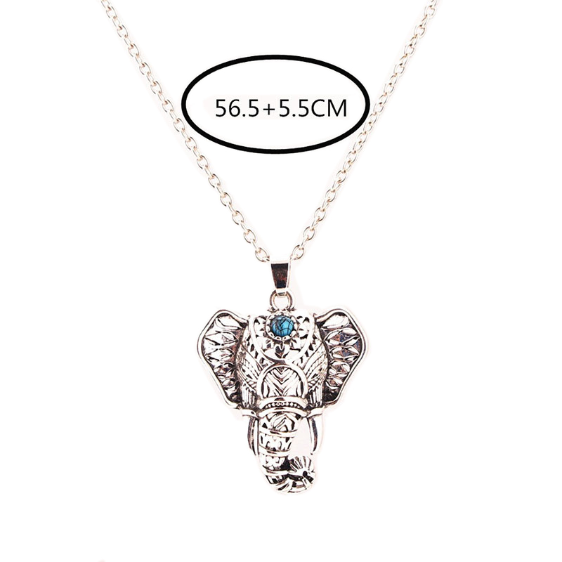 New Fashion Women Beach Pendants Silver Turquoise Elephant Necklaces Jewelry