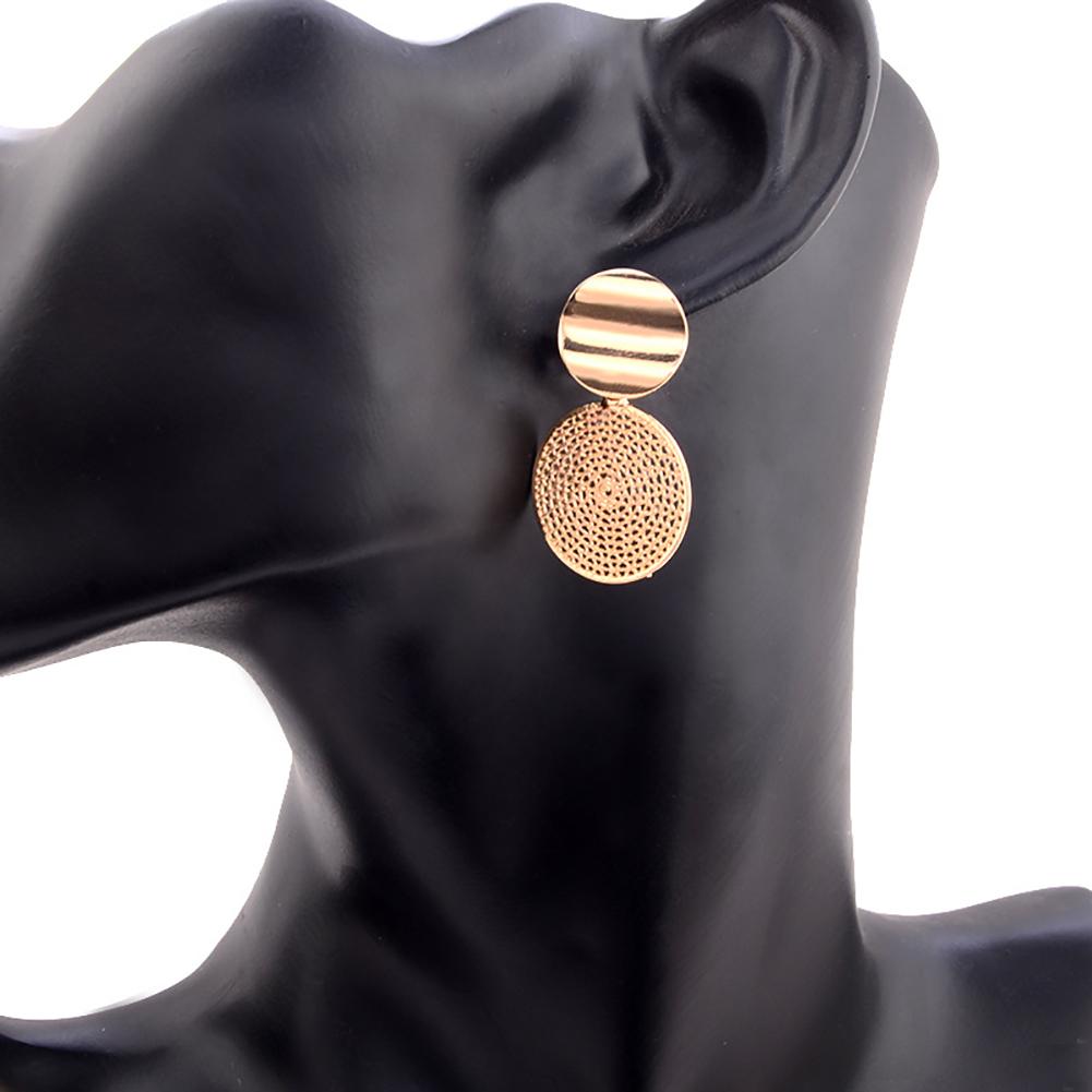Modern Alloy Double Wafers Layers Geometric Earrings Bohemian Drop Earrings for Women Dangle Bijoux Jewelry