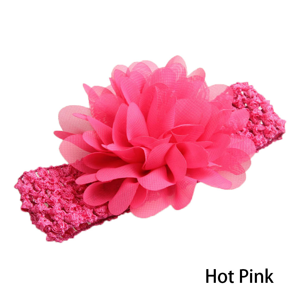 Baby Girl's Infant Headbands Chiffon Flower QandSweet Hair Accessories for Newborn Toddler and Kids