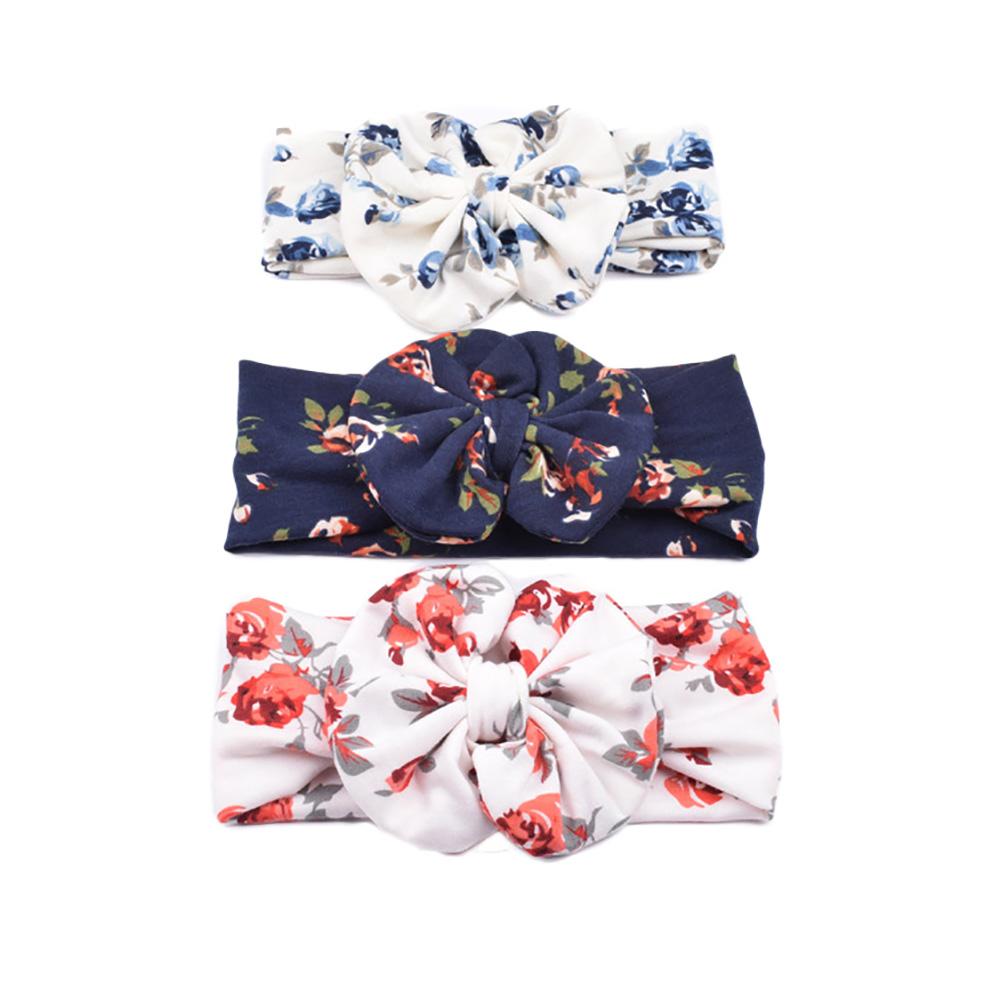Newborn baby hat Girls Flower toddler Bowknot Beanies Hats soft Hospital Caps