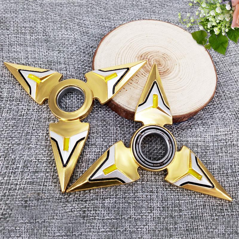 2PCS New Playing Games Hand Spinner Toys Safty Fidget Finger Stress Relax Cospaly Toy