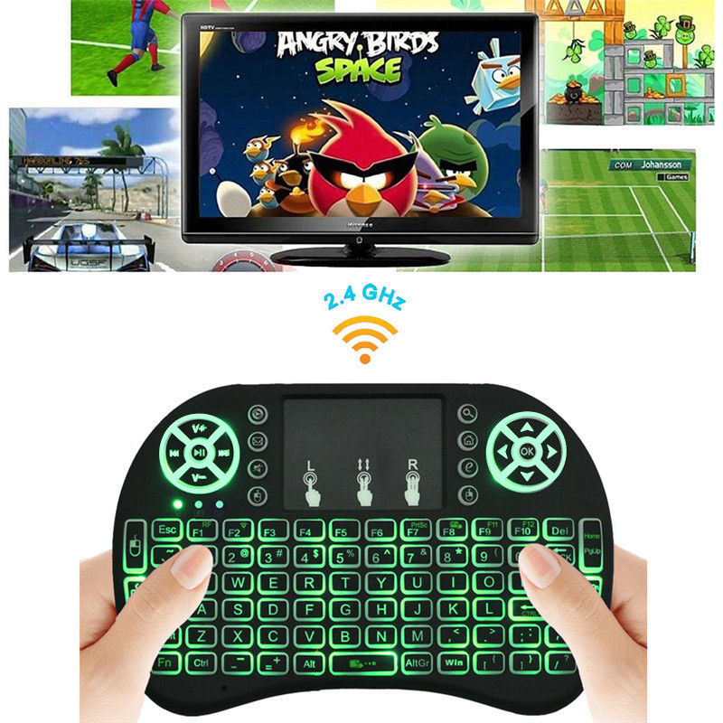 Backlight i8 Wireless Keyboard 2.4GHz English Air Mouse Keyboard Remote Control Touchpad For Android TV Box Tablet PC