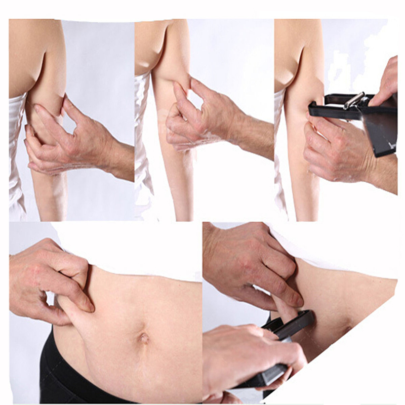 0-80MM Women Men Body Fat Tester Measure Slim Skinfold Skin Fold Caliper Guide