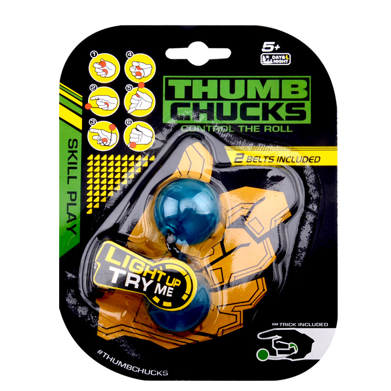 Thumb Chucks Fidget Ball Finger Glow in Night Spinner Anti Stress Anxiety Relief Toys