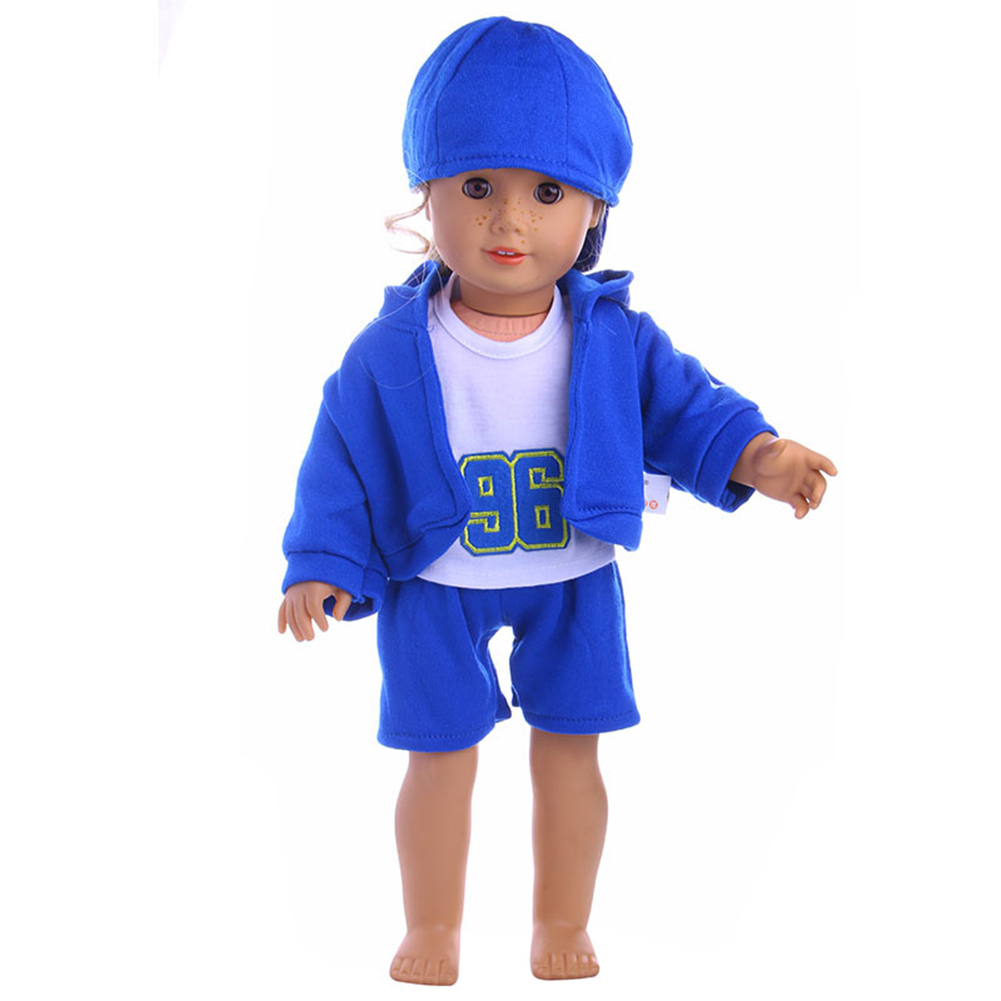 4PCS Leisure Sports Doll Clothes Set Outside Playing Set for 18 inch Doll