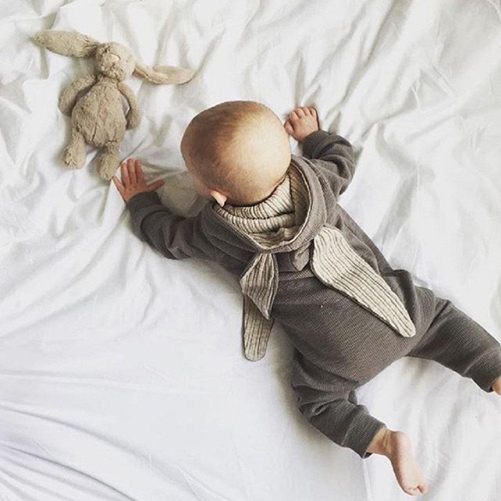 Wonderful Newborn Infant Baby Girl Boy Rabbit 3D Ear Warm Romper Jumpsuit Outfits Clothes