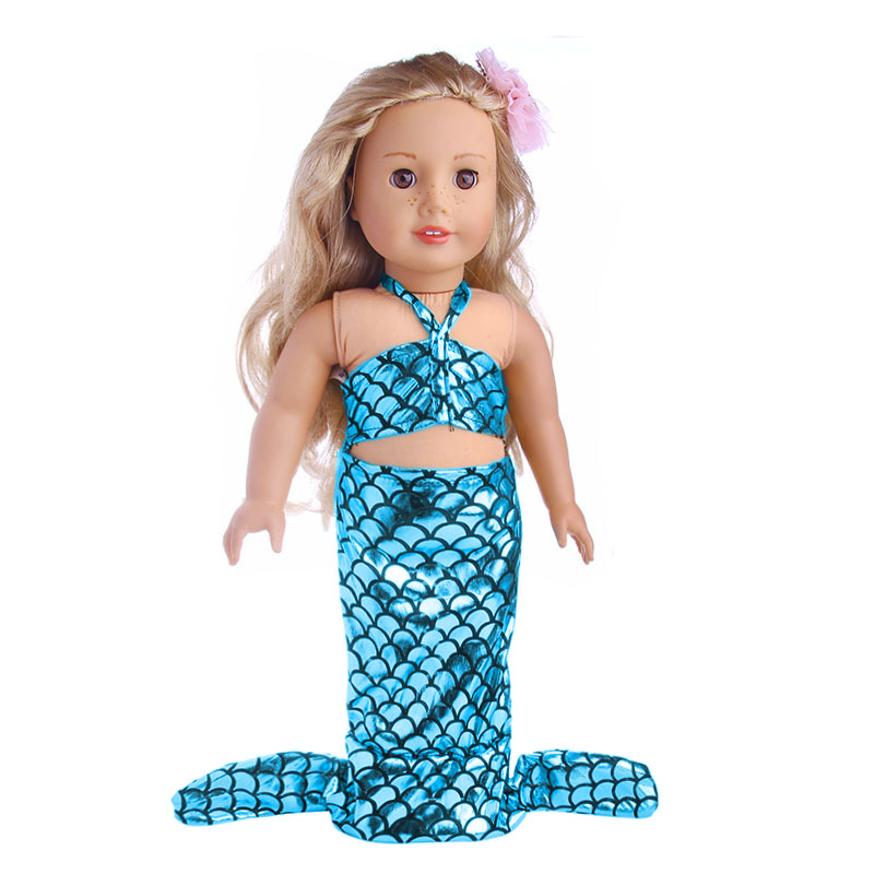 """Mermaid Tail Dress for 18"""" Dolls Generation Doll 18 inch Doll Clothes"""