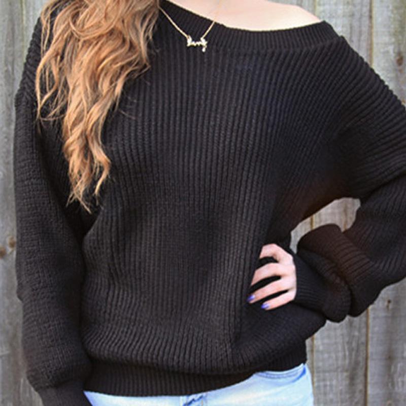 Women Long Sleeve Knitwear Jumper Cardigan Coat Sweater Black Casual
