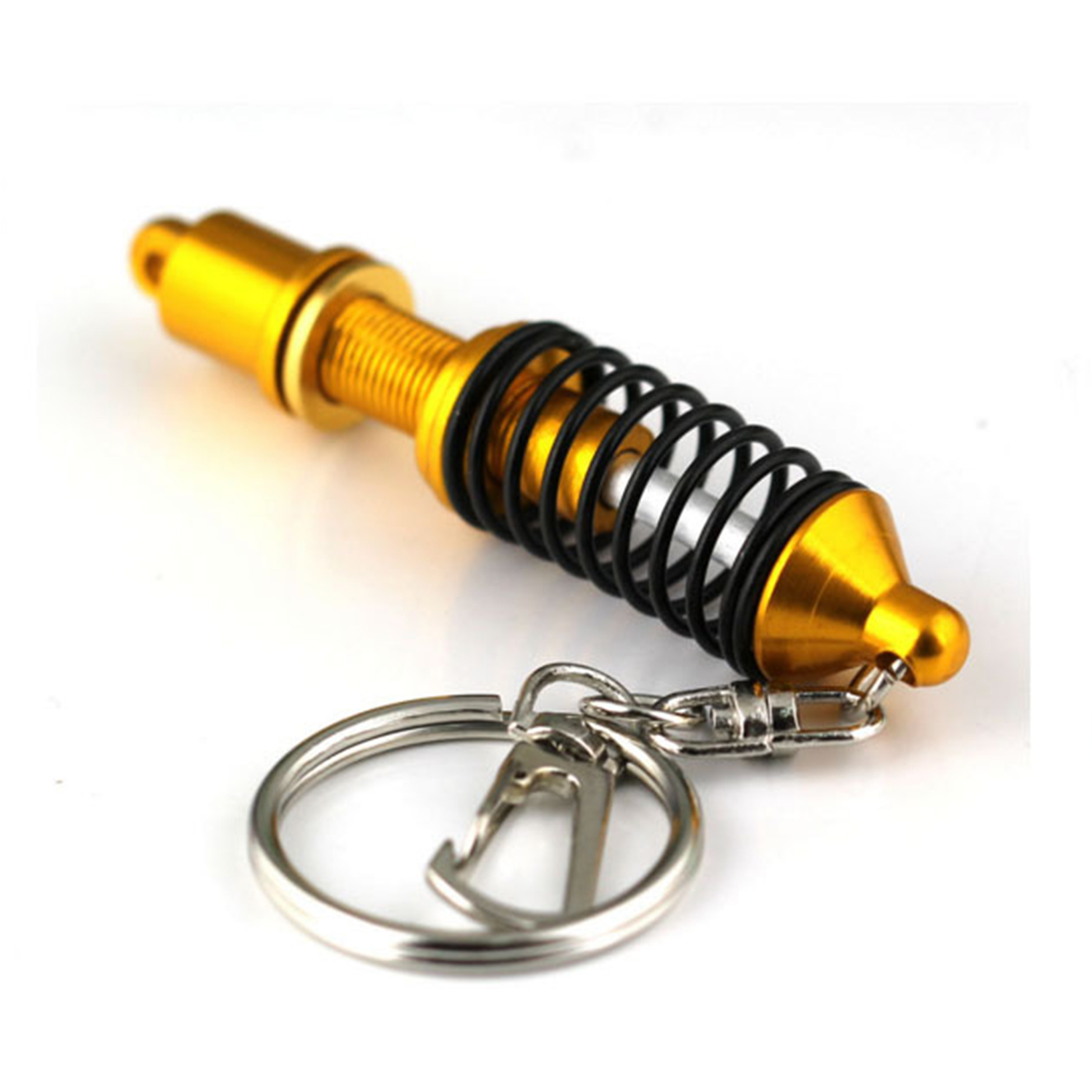Adjustable Keychain Spring Car Part Shock Absorber Keyring Alloy Gift