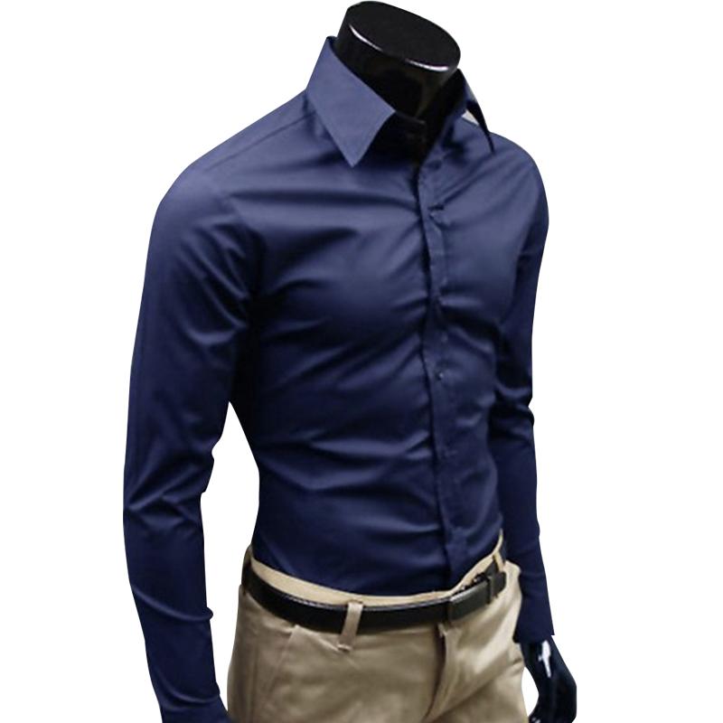 1PC Fashion Mens Luxury Comfortable Casual Long Sleeve Slim Fit Dress Shirts
