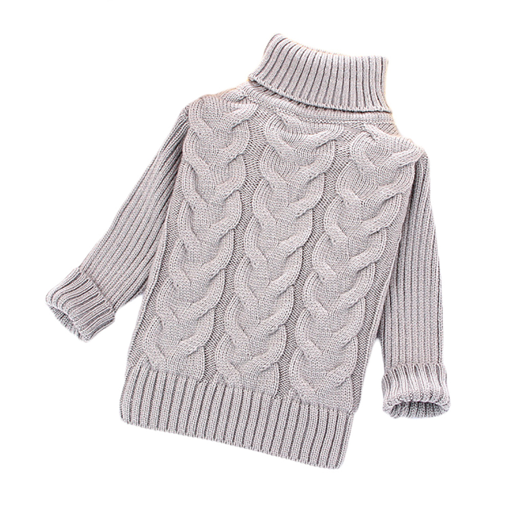 Baby sweaters for girls boys kids autumn winter warm cartoon slolid clothing children pullovers bebe turtleneck sweater