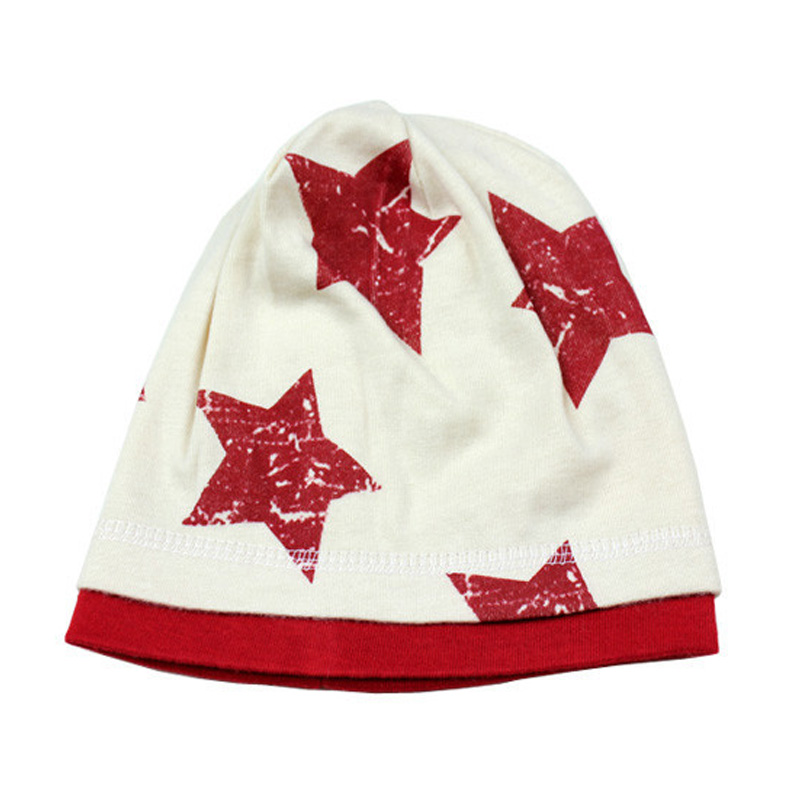 Cute Baby Infant Boy Girl Five Stars Cap Cotton Hat Candy Color Double Layer