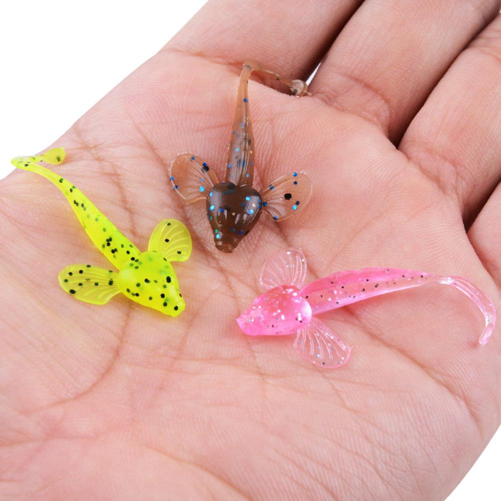10Pcs Bionic Decoy Fishing Lure Artificial Fake Bait Silicone Fishing Tackle