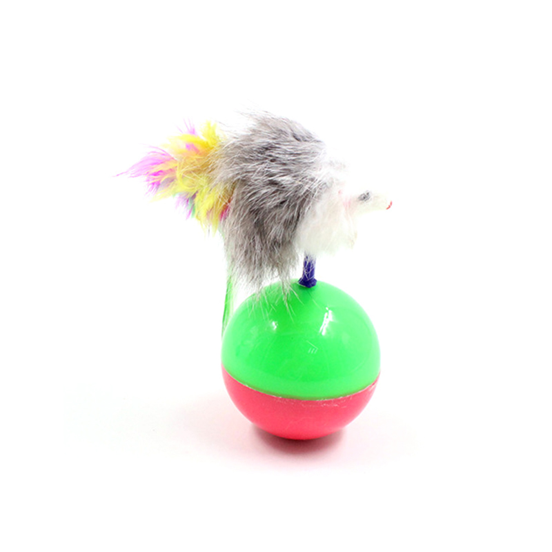 Lovely Tumbler Spring Ball Pet Funny Toys Cat Chew Play Toy