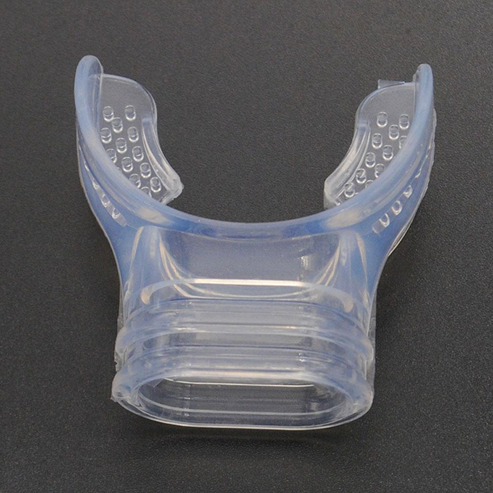 Silicone Diving Equipment Transparent Mouthpiece Snorkel Scuba Tube D8L2