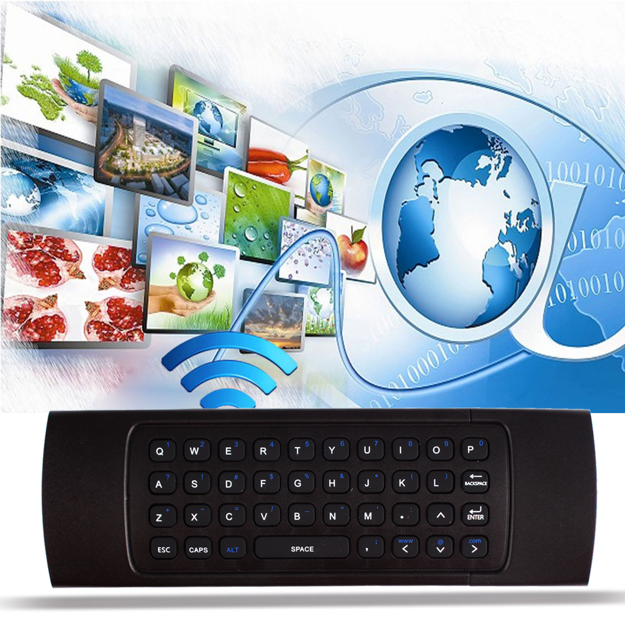 MX3 2.4GHz Air Mouse Wireless Keyboard Remote Voice Control For Smart TV BOX PC