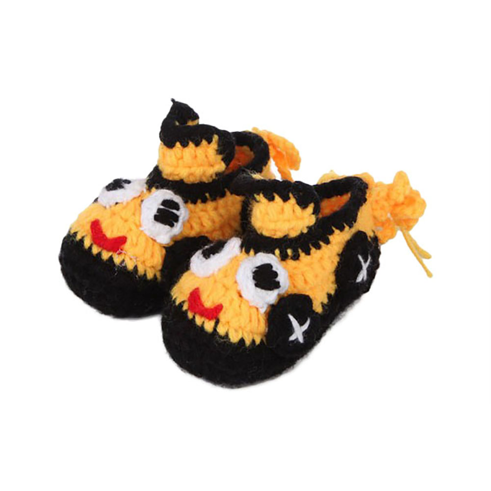 4 colors baby girl boy crochet cartoon printted cute knitted shoes for 2-8 Months baby