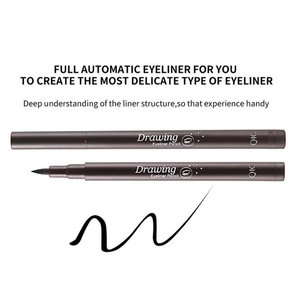 QIC Universal Long Lasting Liquid Eye Liner Pencil Pen Waterproof Dye Black Nice Beauty Makeup Cosmetic Tools