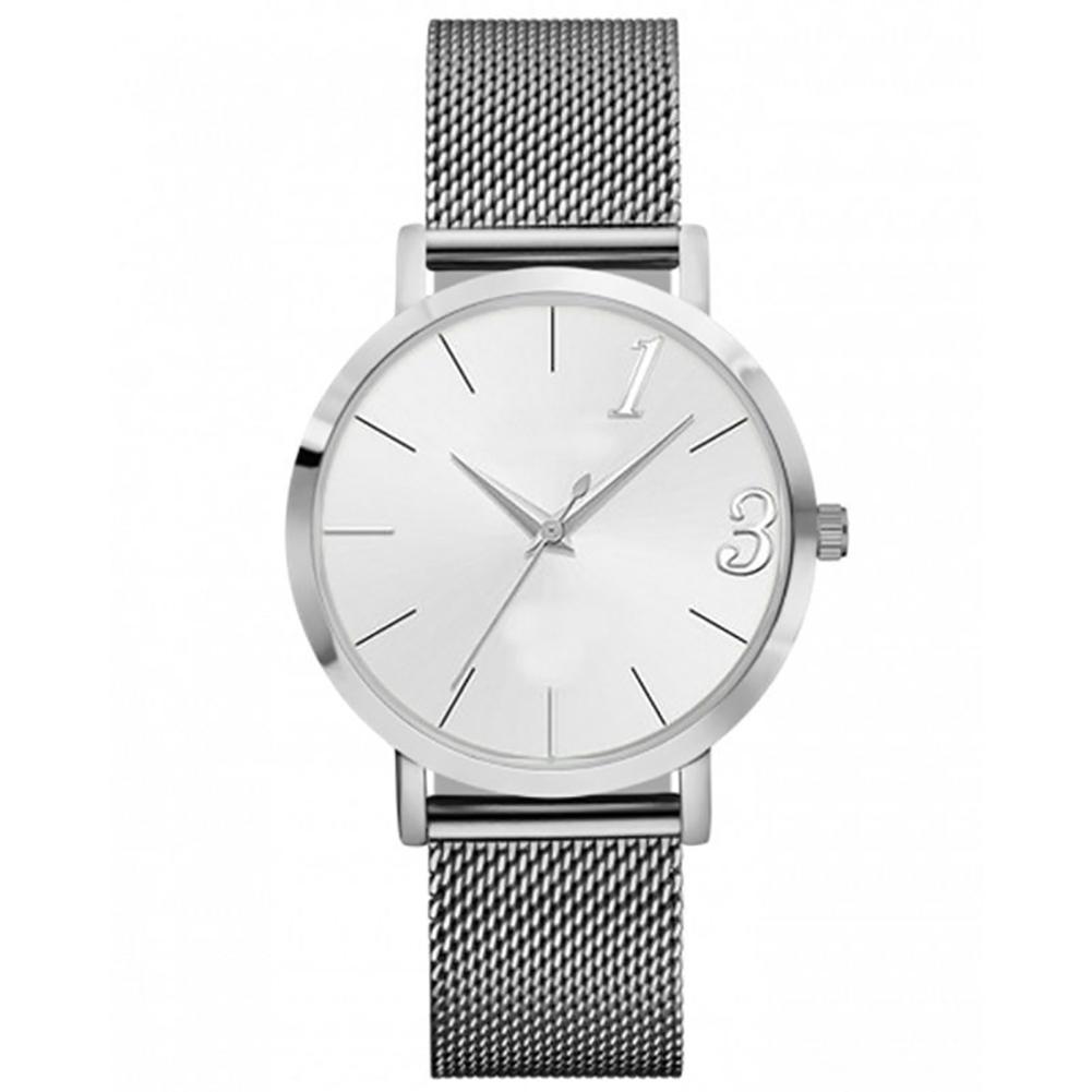 Women Men Simple Fashion Analog Quartz Watches Stainless Steel Wristwatch