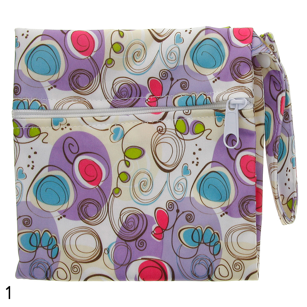 Washable and Reusable Baby Nappy Bag Wet Dry Cloth Zip Diaper Infant Bag