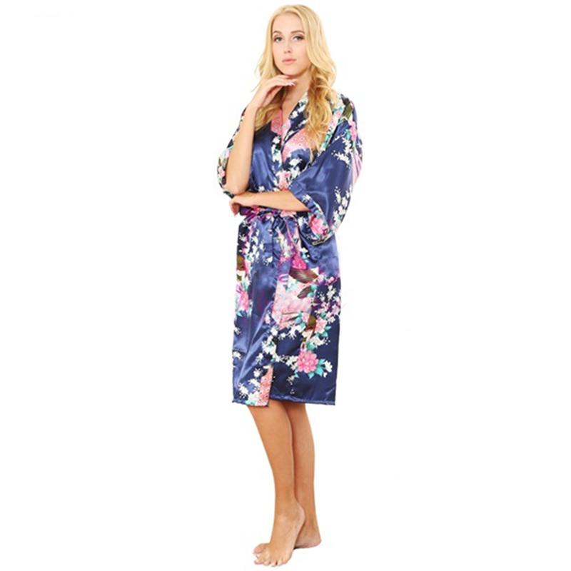 Silk Women Robe Sexy Silk Robes Bridesmaids Nightgown Sleepwear Nightdress