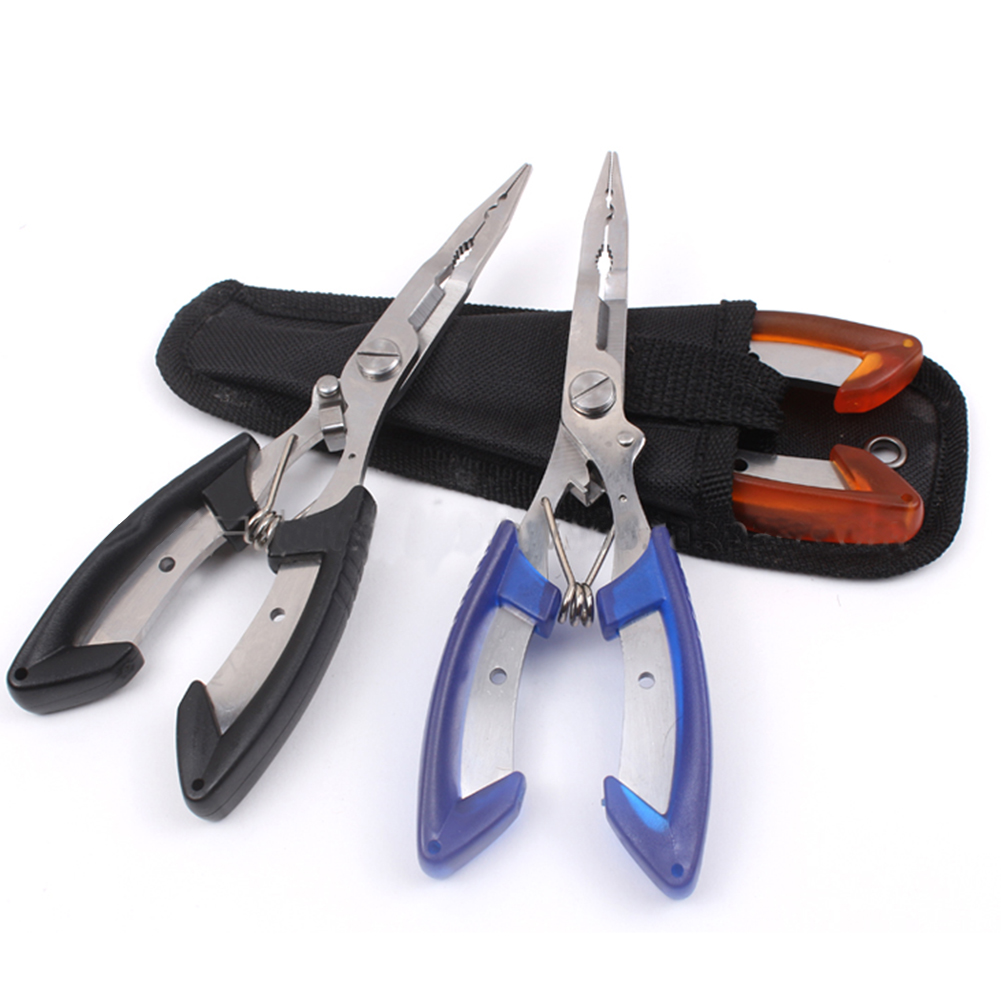 Outdoor Multifunctional Subforceps Hook Clamp Line Cutter Control Fish Forceps Cutting Wire Forceps Fishing Pliers Scissors Tool