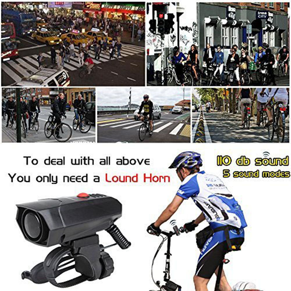 Cycle Bike Handlebar Ring Bell Horn Ultra Loud Bicycle Horns