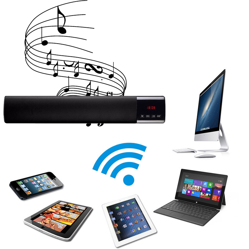 Wireless Bluetooth Radio Speaker Loudspeaker Support TF Card for ipad/MP3/PC/Tablet PC