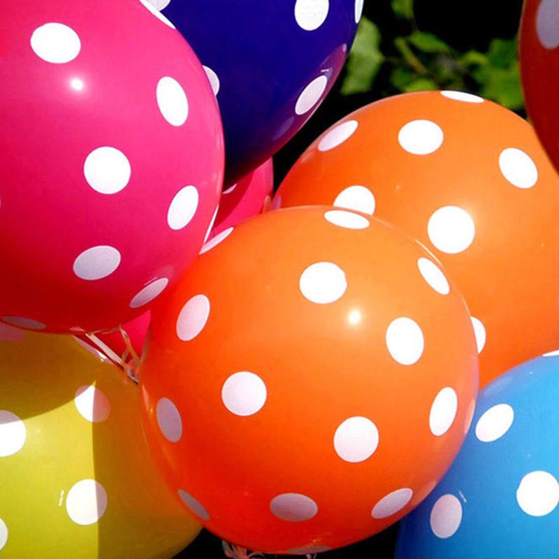 "100Pcs 12"" Polka Dot Latex Balloon Celebration Birthday Wedding Party Home Decoration"