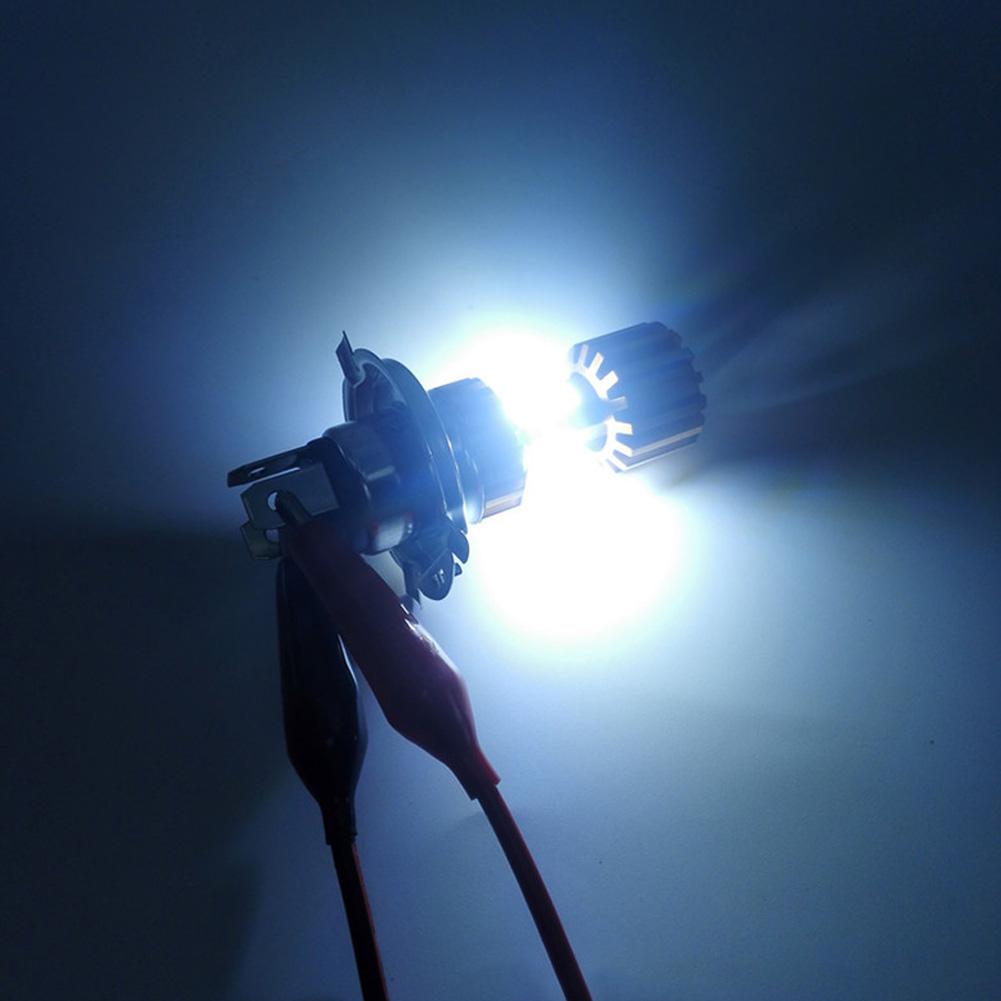 H6 3 COB Motorcycle Headlight LED Bulb 6500K Hi/Lo Beam Light White 2000LM 18W
