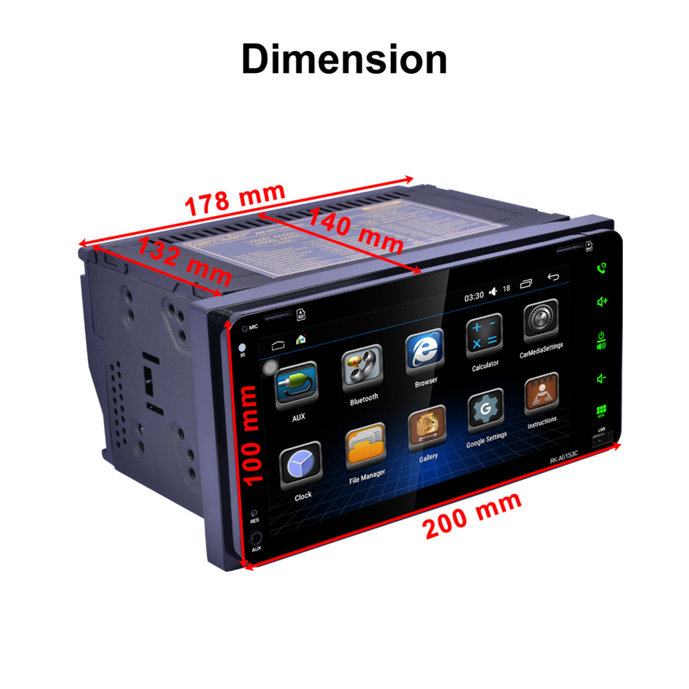 """2 Din 7"""" Dual Core Android 6.0 GPS Navi Car Stereo DVD Player WIFI BT Radio"""