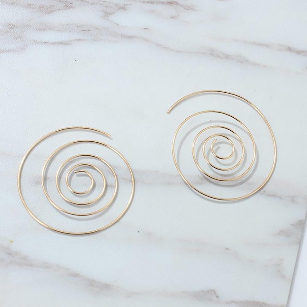 Retro Punk Boho Bohemian Round Spiral Circles Stud Earrings Women Ear Jewelry Gift Accessories Hot