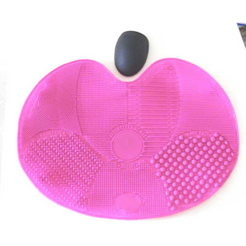 Silicone Makeup Washing Brush Scrubber Board Traveling Cosmetic Cleaning Mat Pad