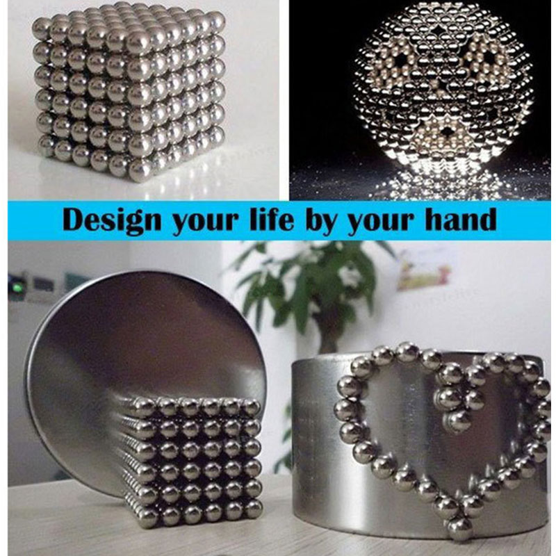 5MM Sphere Magnetic Balls Puzzle 216+4 in BOX Silver