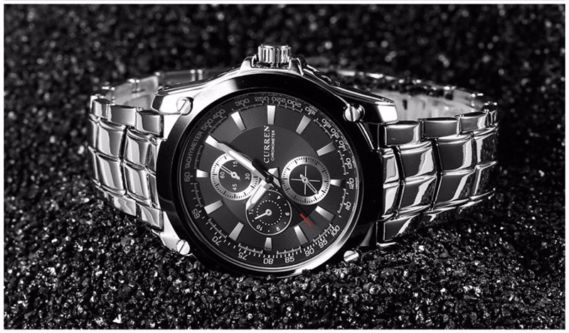 CURREN Luxury Brand Men's Stainless Steel Waterproof Business Quartz Watches Casual Military Army Wristwatch