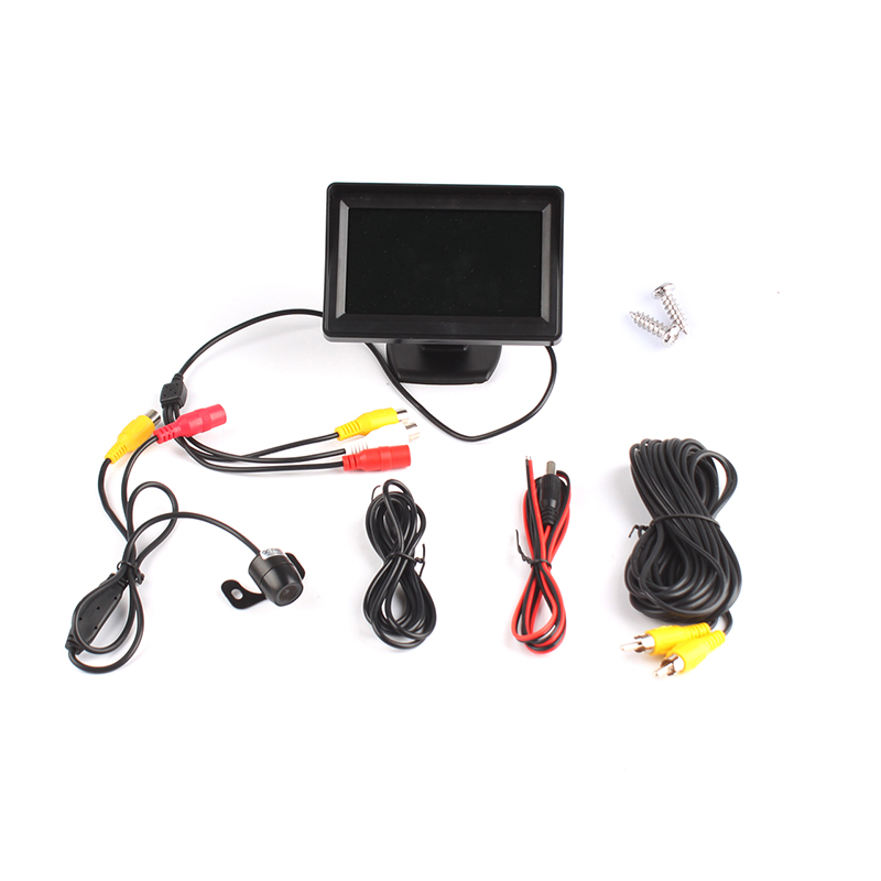 "4.3"" LCD Car Monitor Display Screen + Car Rear View Camera Kits"