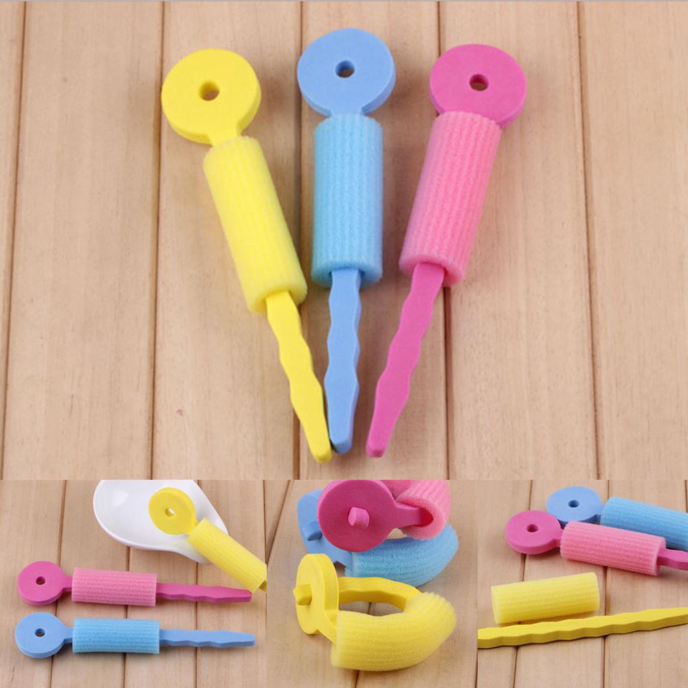 6 PCS Hair Care Magic Sponge Soft Hair Roll Rollers DIY Curler Hair tool