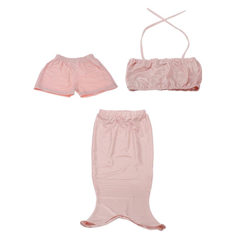 Girls Kids Mermaid Tail Swimmable Swim Costume Fancy Dress Swimsuit Bikini Sets