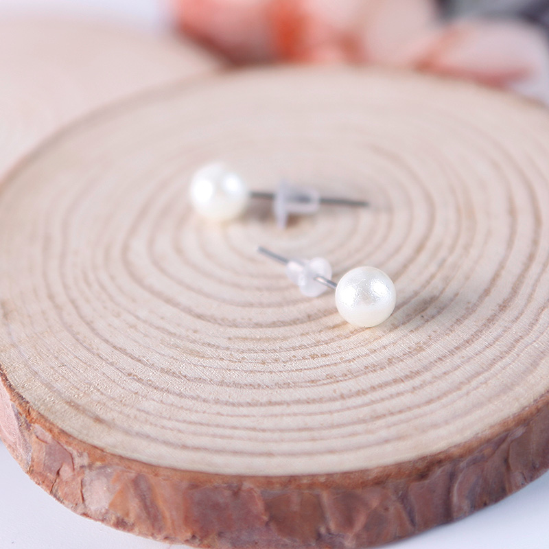 12 Pairs Designs Fashion Women White Pearl Earrings Ear Stud Beads Jewelry