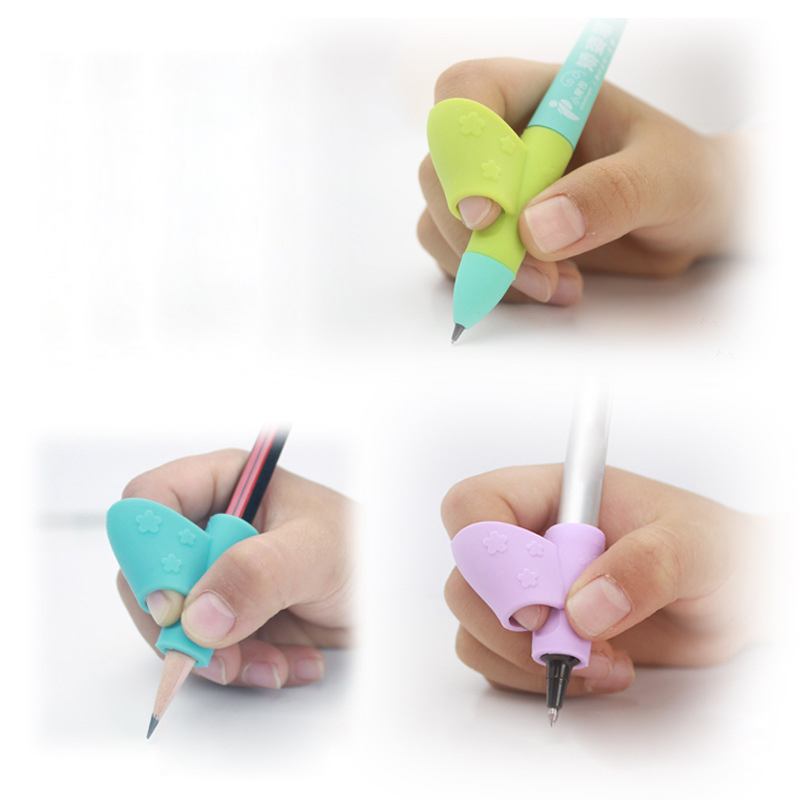 3PCS Children Pencil Holder Pen Writing Aid Grip Posture Correction Tool Set