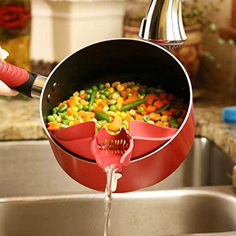 New Silicone Soup Funnel Kitchen Gadget Tools Water Deflector Cooking Tool