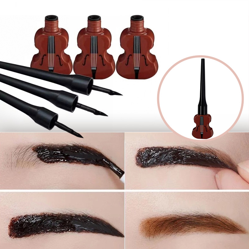 5g Guitar Shape Makeup Waterproof Peel Off Eyebrow Gel Enhancer Cosmetics
