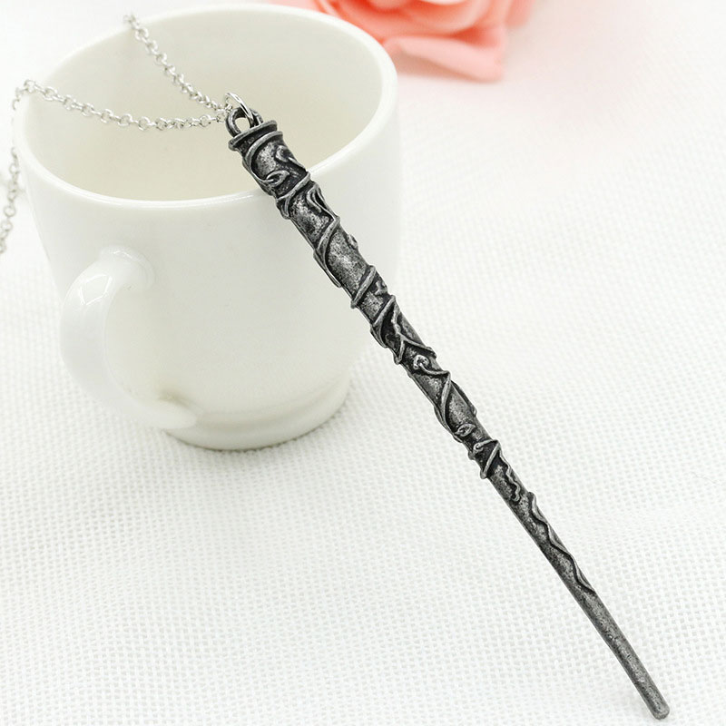 Hot Harry Potter Hermione Dumbledore Lord Voldemort Magic Wand Pendant Necklace