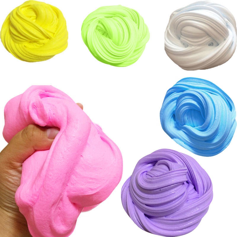 DIY Fluffy Floam Slime Scented Borax Kids Cotton Mud Stress Relief Putty Toy