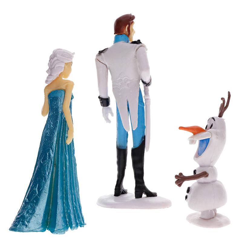 6PCS Lovely Playset Elsa Princesses Action Figure Toy Anna Olaf Dolls