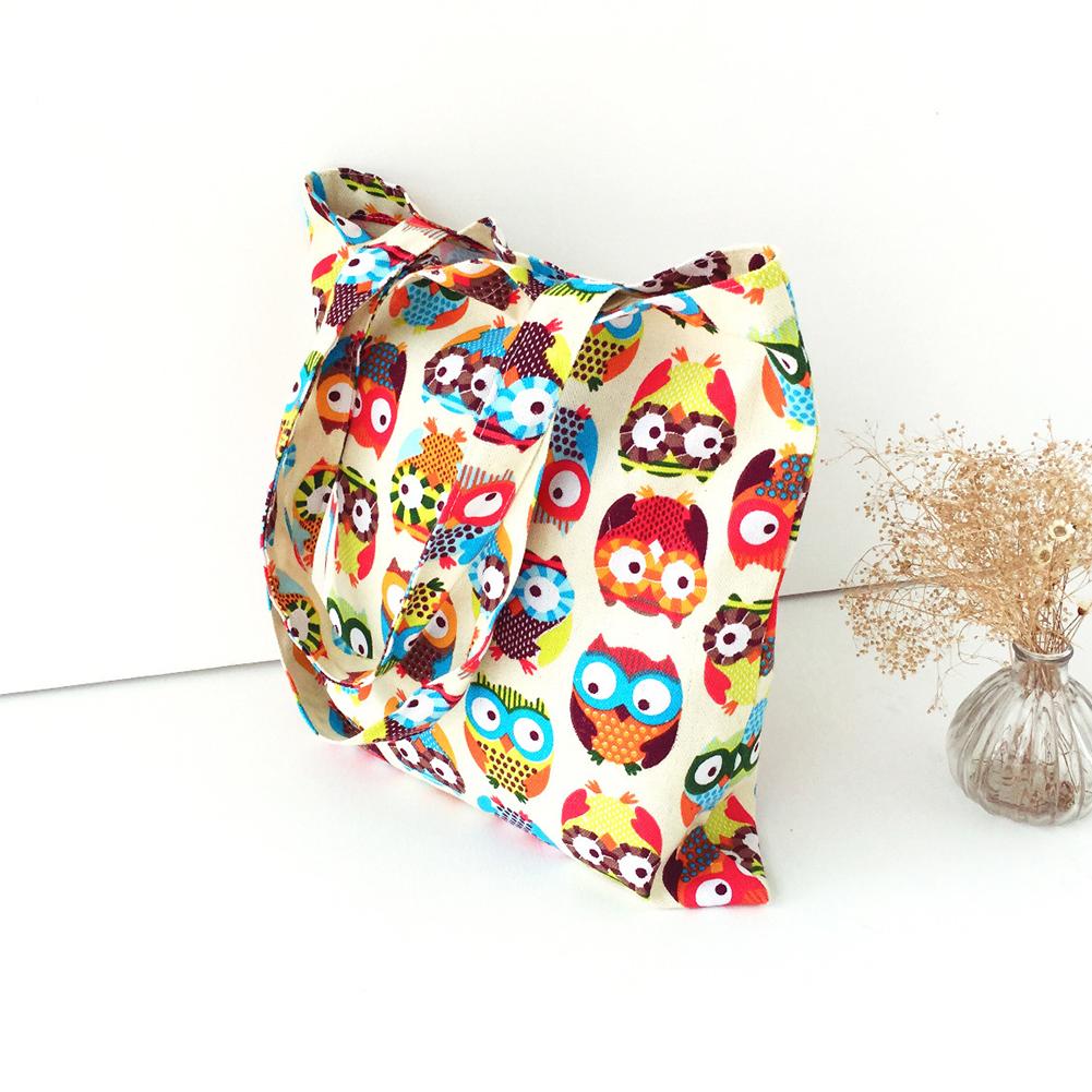 New Cute Owl Womens Shopper Tote Canvas Capacity Handbag Shopping Shoulder Bag