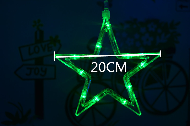 3M Curtain 12 Star 138 LED Outdoor String Lights Wedding Party Xmas Christmas