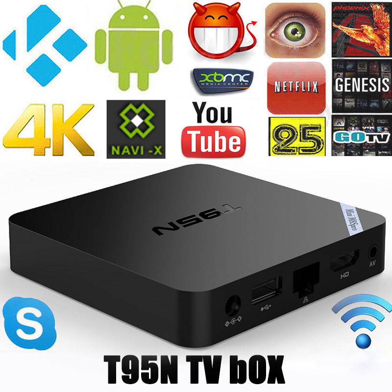T95N S905X 4K Android 6.0 Smart TV BOX Quad Core KODI M8S Pro WIFI 2G/8G
