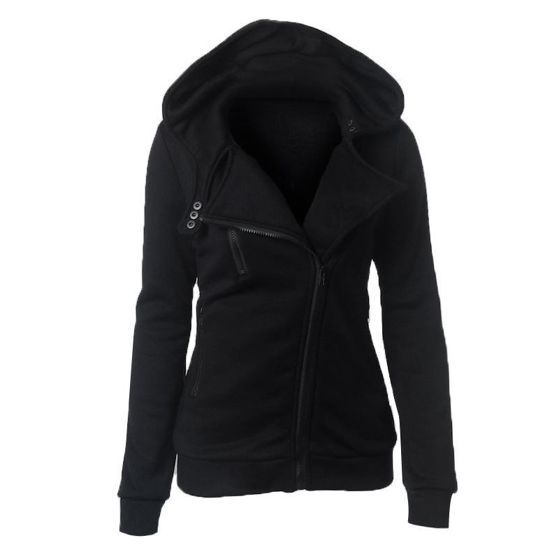 New Women Slim Fit Zip Up Top Hoodie Hooded Sweatshirt Coat Jacket Outdoor Sport Sweater Jumper
