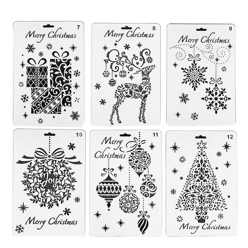 Wall Painting Grain Stencil Christmas Pattern Reusable Paint Stencil Xmas Gift